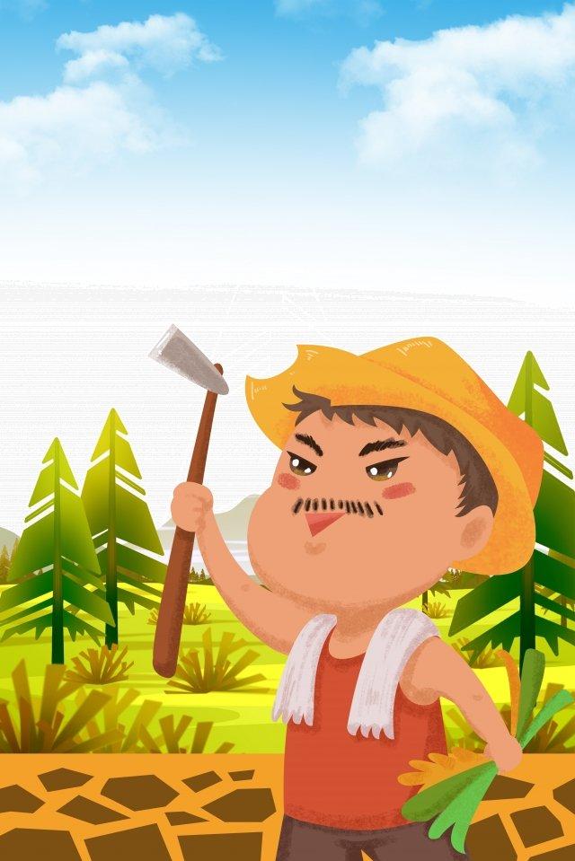 太陽光条件マンゴー種農場労働労働日 イラストレーション画像