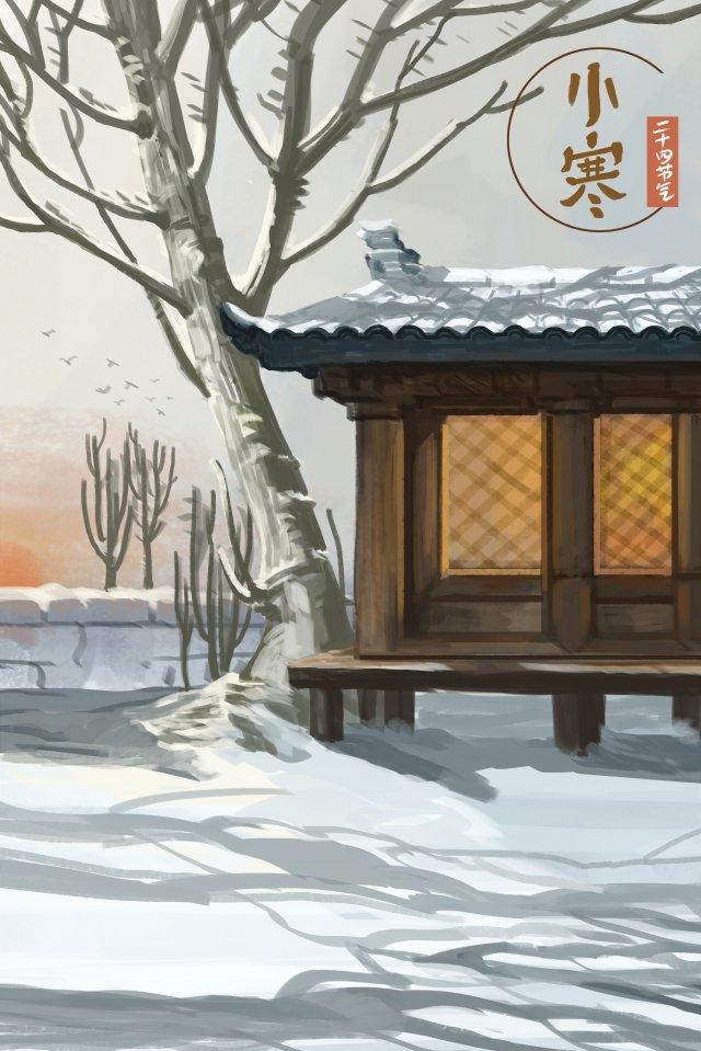 태양 용어 osamu landscape snow 삽화 소재