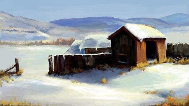 太陽の用語雪が降った後大雪 イラスト素材 イラスト画像