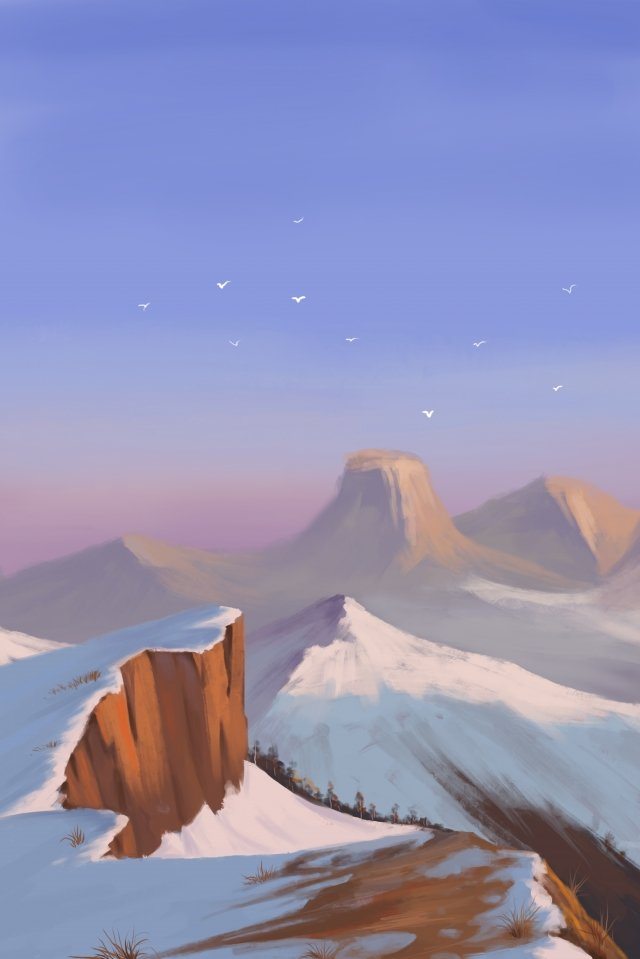 solar terms winter winter solstice snow mountain illustration image