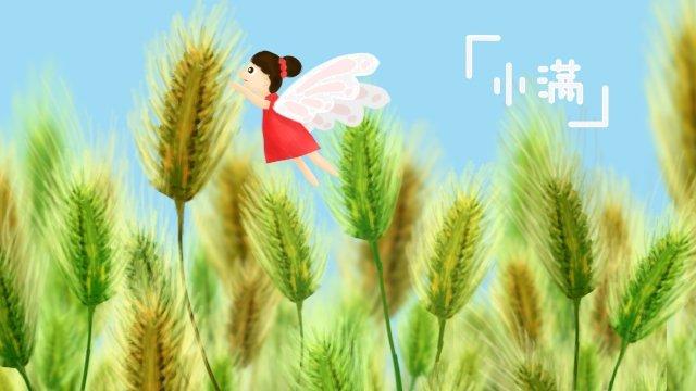 太陽の言葉xiaoman小麦赤スカート イラスト素材