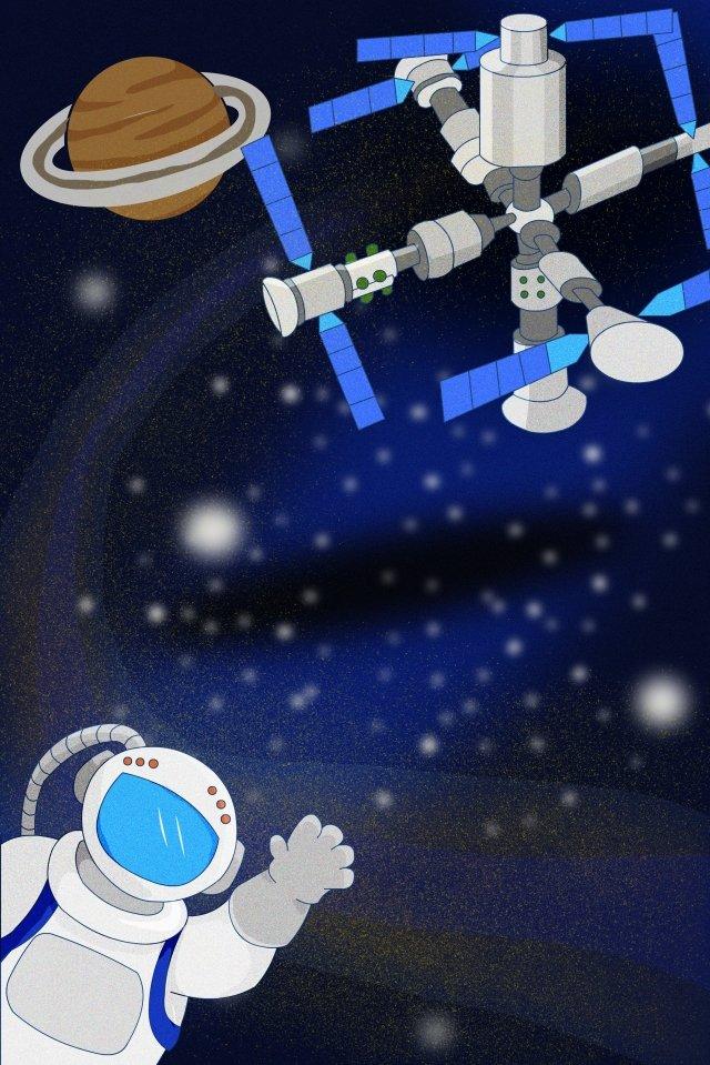 phi hành gia trạm vũ trụ đầy sao tàu vũ trụ Hình minh họa