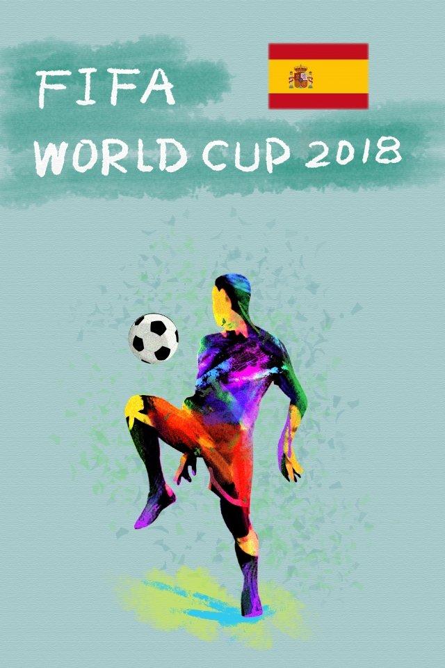 スペインサッカーワールドカップ2018 イラスト素材 イラスト画像