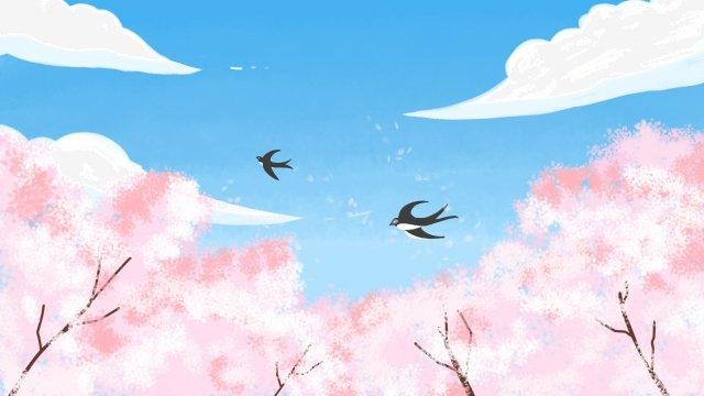 春の始まり春のツバメ イラスト素材