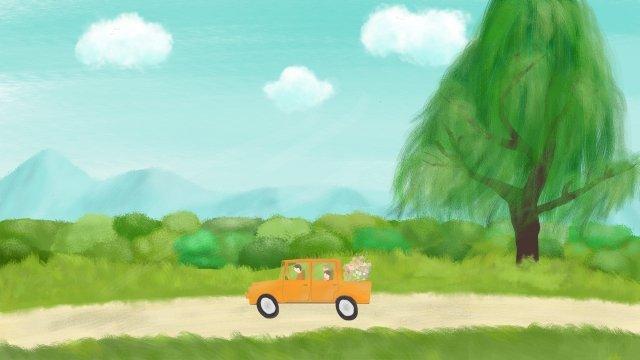 mùa xuân ching ming lễ hội cây xanh tự lái tour Hình minh họa