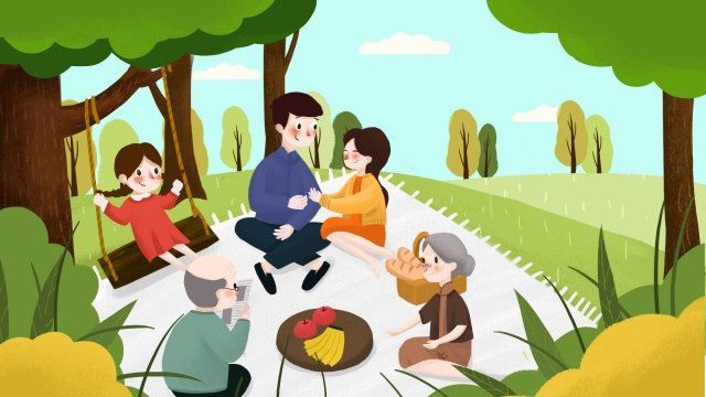 du xuân gia đình du xuân Hình minh họa Hình minh họa