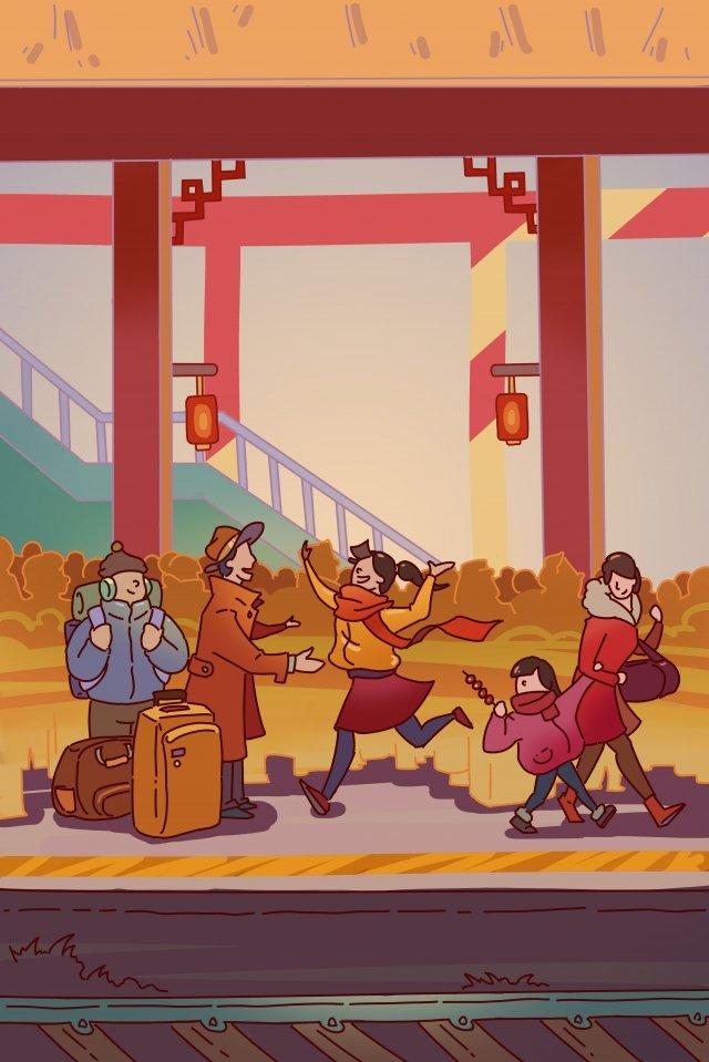 봄 축제 봄 축제 축제 스테이션 그림 이미지