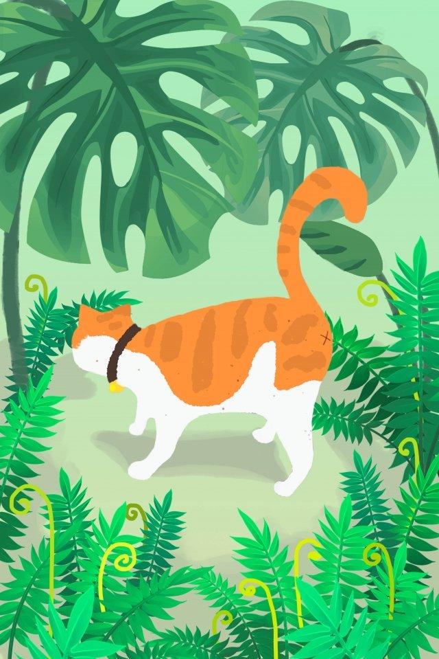 spring garden grass tease illustration image