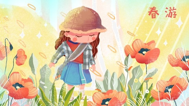 spring illustration spring landscape green small clear illustration llustration image