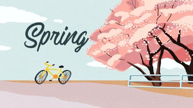 春春桜の花 イラスト素材