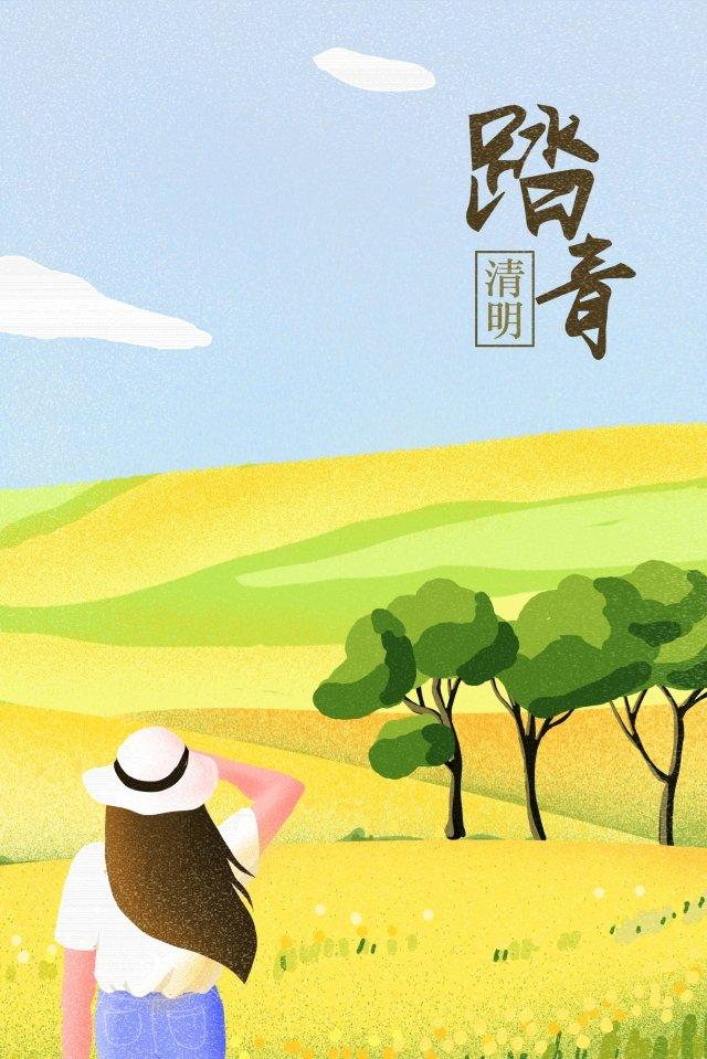 春春清明ステップ イラストレーション画像