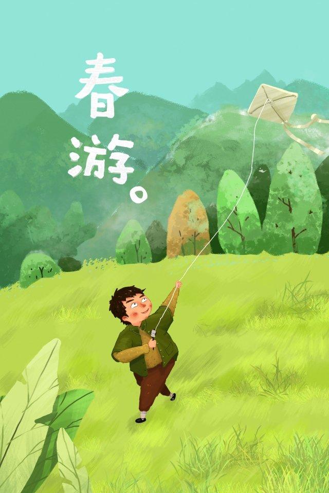 봄 방학 어린이 어린이 그림 이미지