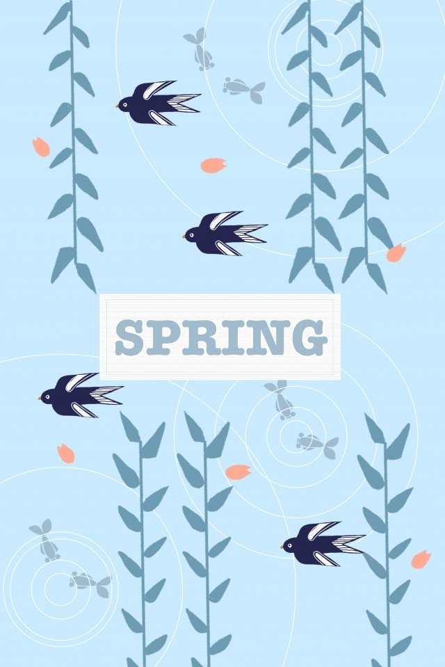 spring spring willow leaf illustration image