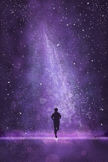 starry sky beautiful purple night sky illustration image