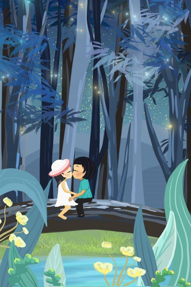 星空夜景背景素材 イラストレーション画像