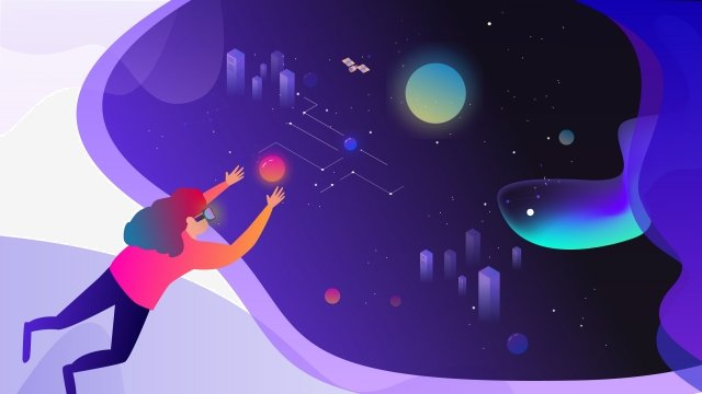 starry sky technology space beautiful llustration image