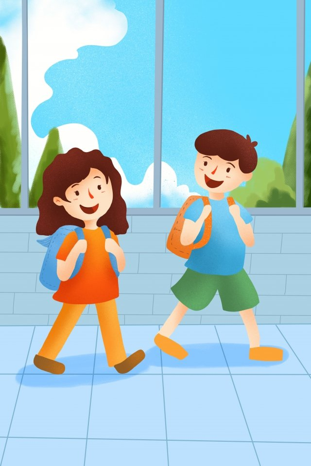 starting school go to school go to school school starts llustration image