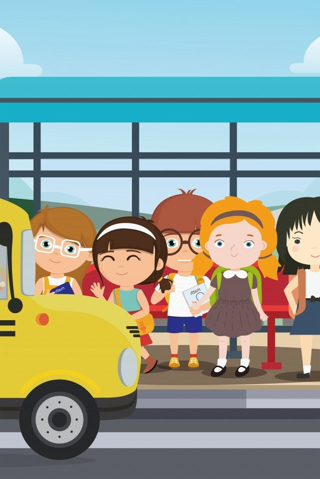starting school middle school school season go to school llustration image