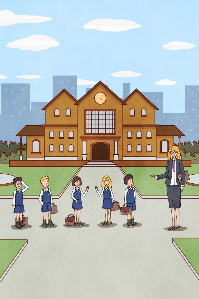 начальная школа ученик учитель школа Ресурсы иллюстрации Иллюстрация изображения