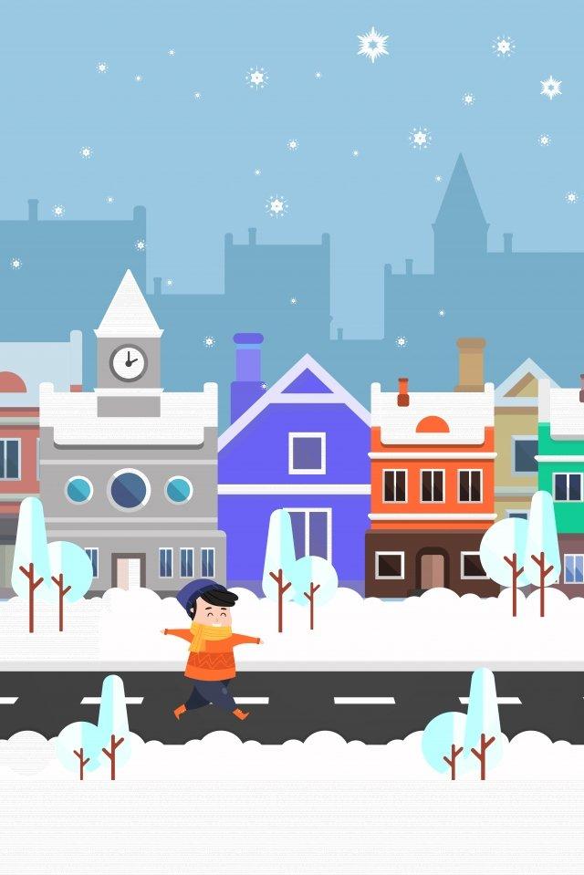 सड़क बर्फ दृश्य शहर सड़क चित्रण चित्रण छवि