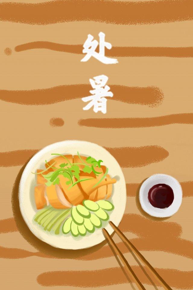 summer eating duck solar terms food llustration image illustration image