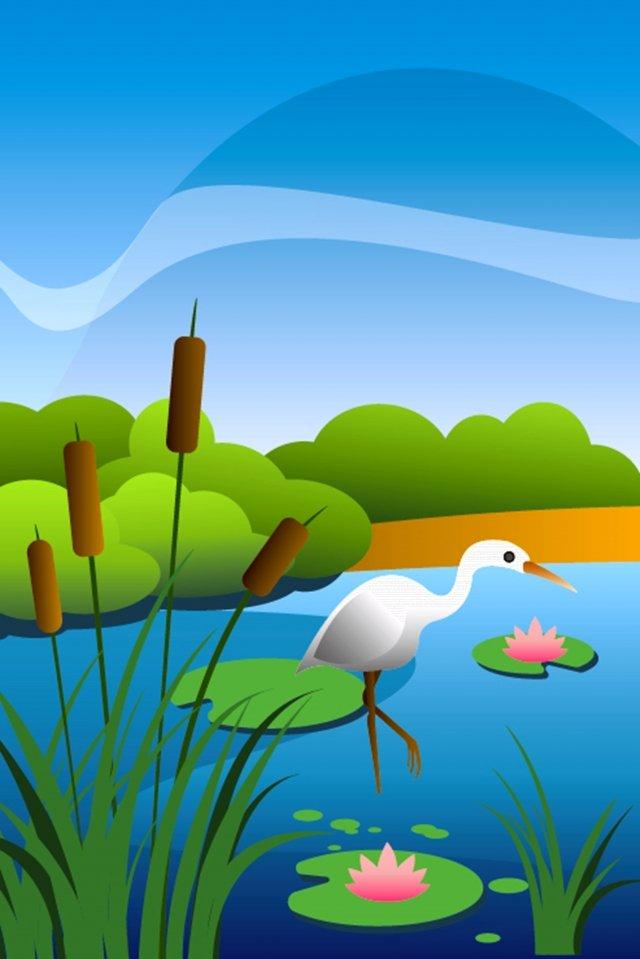 summer fishing rural lotus pond llustration image illustration image