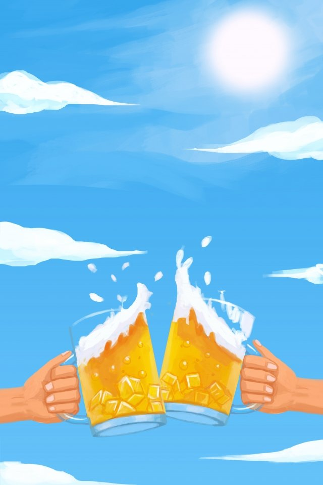 summer hot summer hot blue sky illustration image