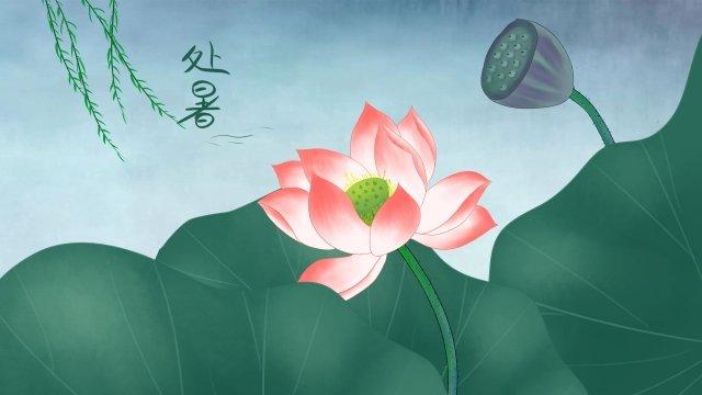 夏イラスト蓮蓮の葉 イラスト素材