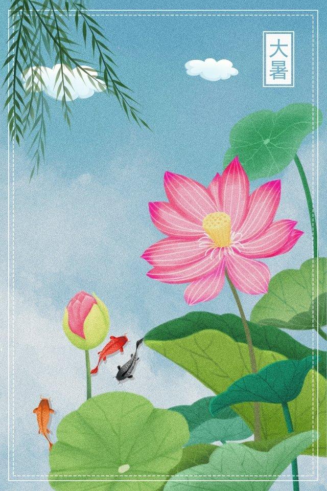 ग्रीष्मकालीन कमल हाथ चित्रित चित्रण चित्रण छवि