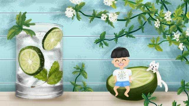 mùa hè sáu một ngày trẻ em mát mẻ Hình minh họa