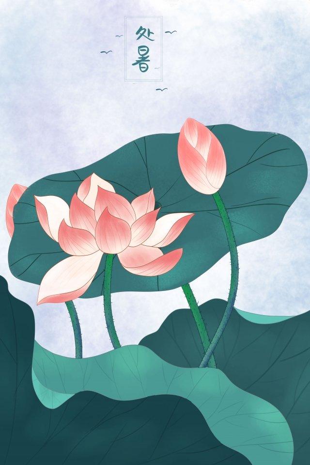 summer solar terms illustration lotus leaf llustration image illustration image