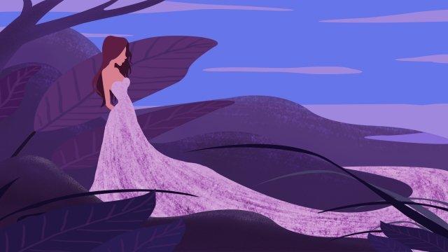 夏の十代の少女漫画の女の子 イラストレーション画像