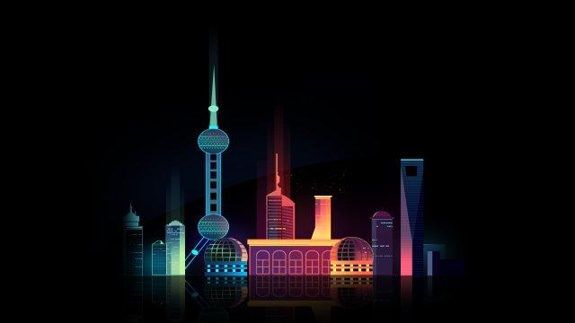 summer vacation tourism shanghai city llustration image