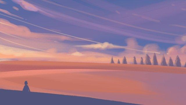 غروب الشمس نجمة السماء الغيمة صورة llustration