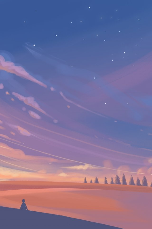sunset cloud sky star llustration image illustration image