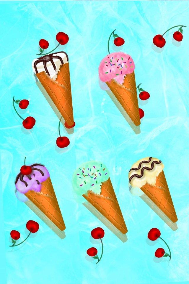 甘いチューブアイスクリームアイスクリームチョコレートコーン イラスト素材 イラスト画像