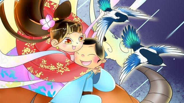 tanabata橋樑會議背景例證 插畫素材