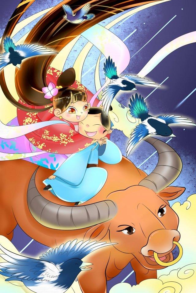 illustrazione del fondo di riunione del ponte di tanabata Immagine dell'illustrazione immagine dell'illustrazione