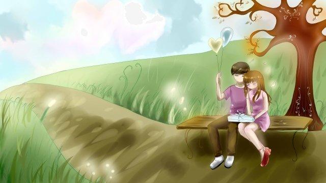 tanabata夫婦草平 插畫素材 插畫圖片