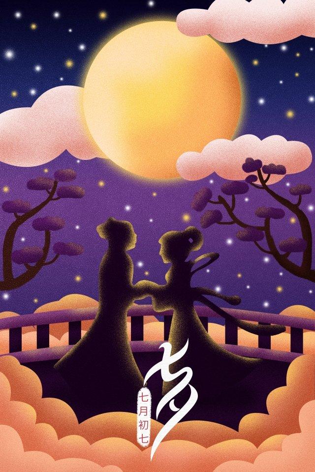 七夕祭りイラスト月 イラスト素材 イラスト画像