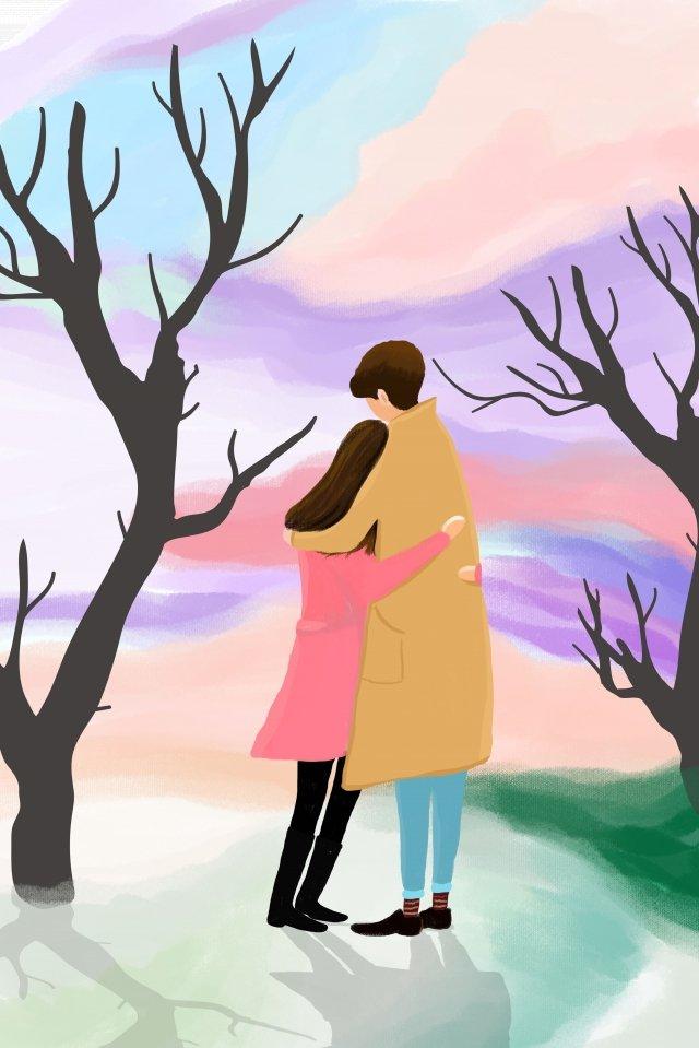 tanabata情人節卡通美麗 插畫圖片