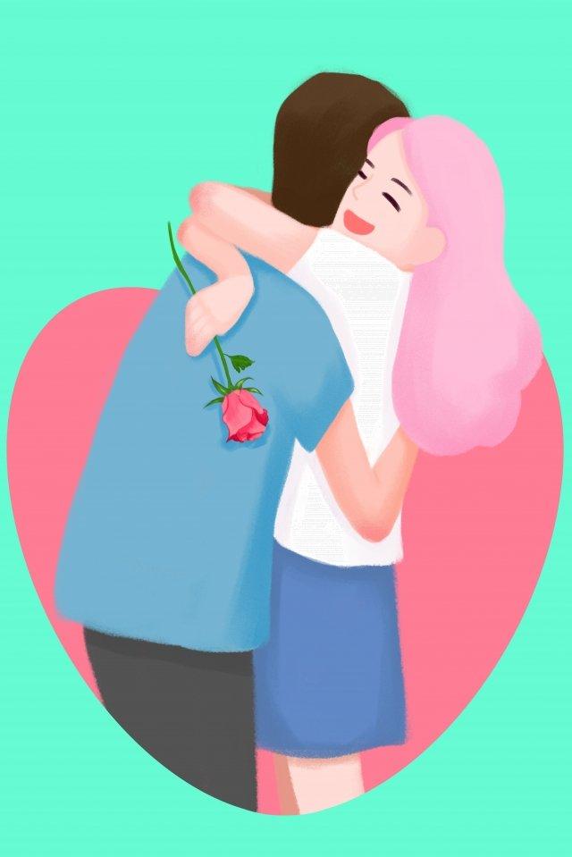 tanabata情人節情侶愛 插畫素材 插畫圖片