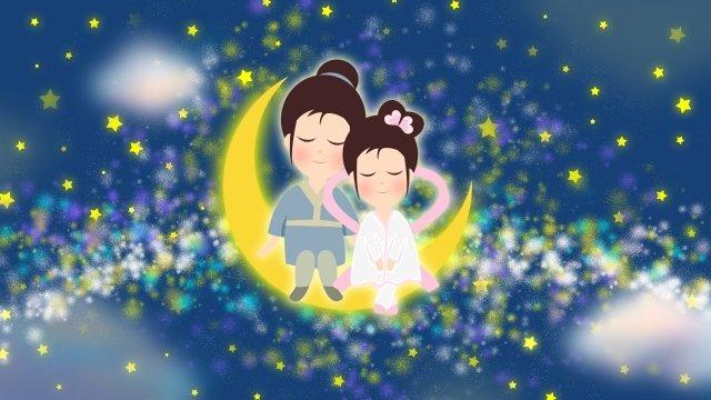 tanabata dia dos namorados pescador weaver Material de ilustração Imagens de ilustração