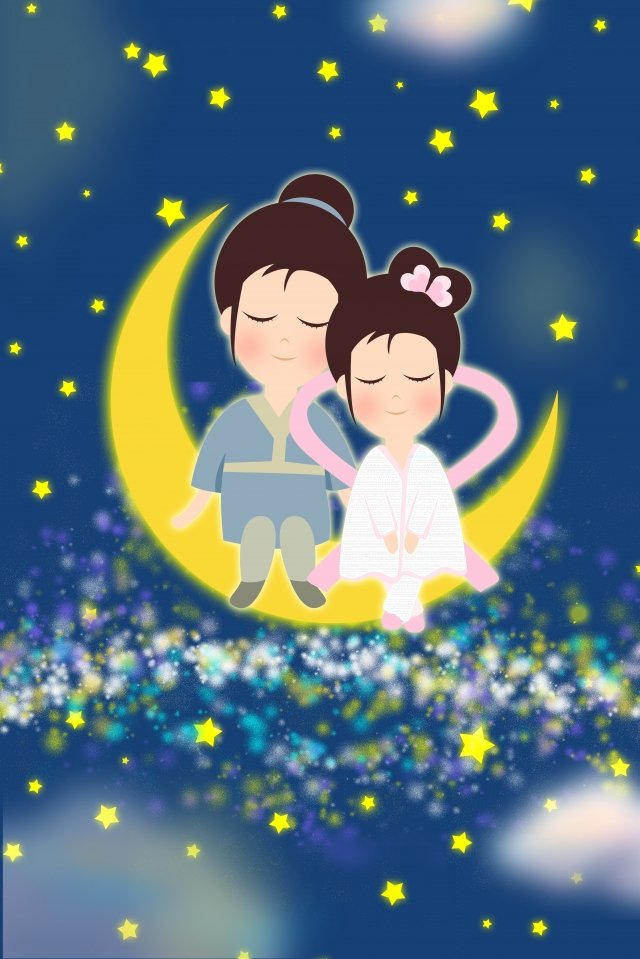 tanabata dia dos namorados pescador weaver Material de ilustração