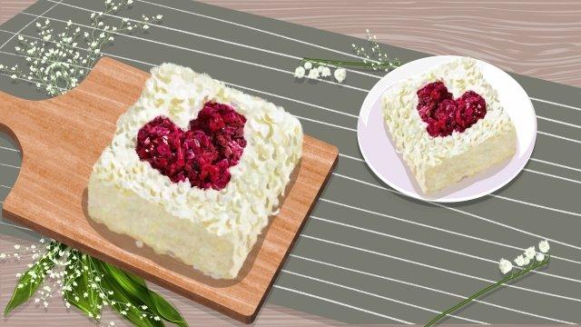 ngày tanabata valentines bánh hình trái tim Hình minh họa