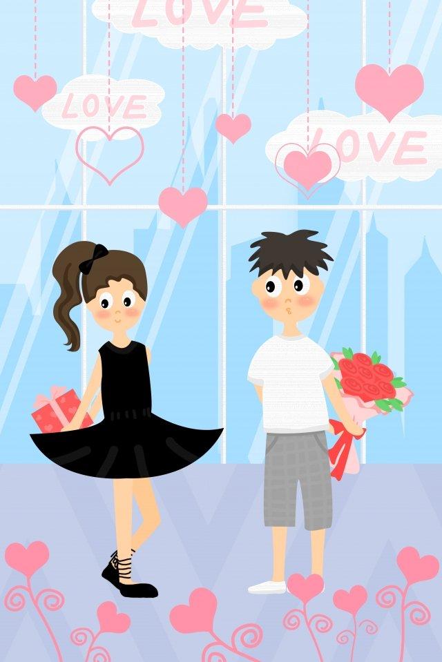 tanabata情人節浪漫懺悔 插畫圖片