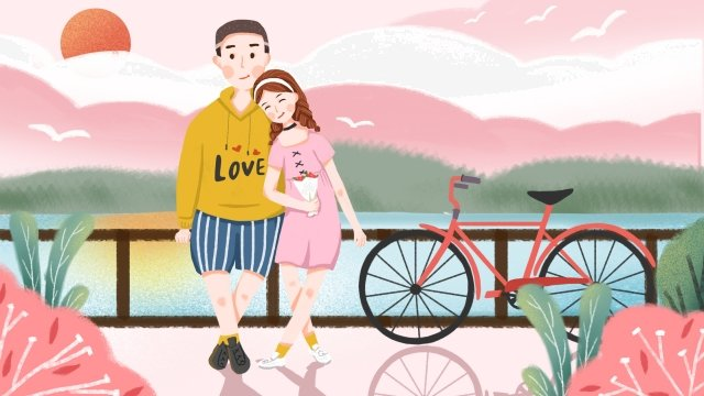 tanabata valentines day romantic date couple llustration image illustration image