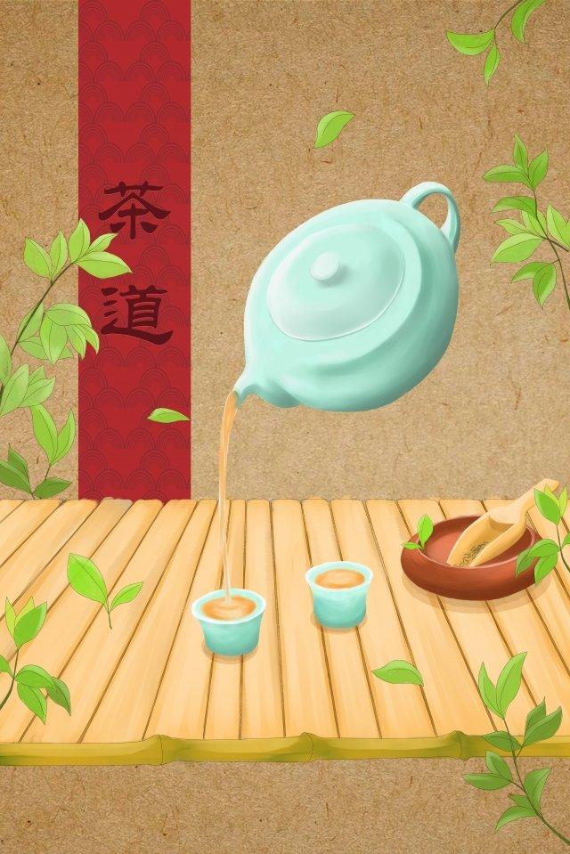 чай чайная церемония чай арт чай Ресурсы иллюстрации