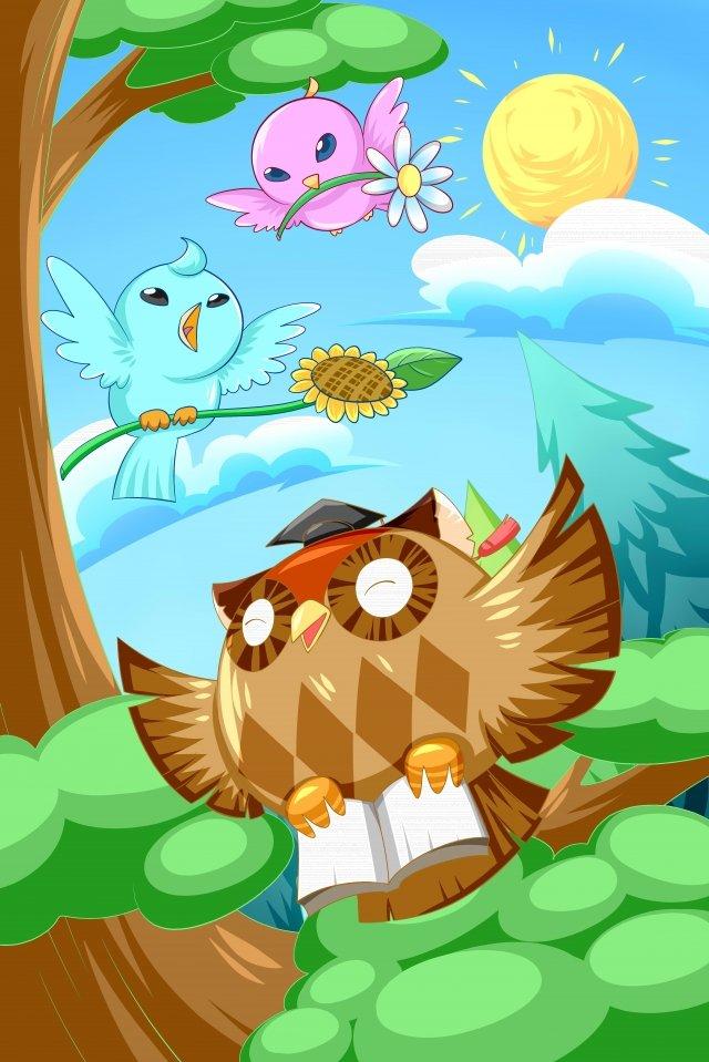 teachers day owl education doctor llustration image illustration image