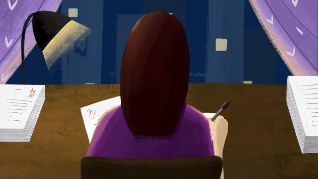 教師節老師人民老師糾正工作 插畫素材 插畫圖片